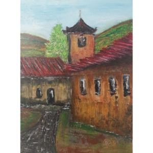 Schilderij De Hut