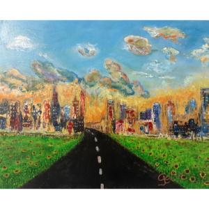 Schilderij Verloren stad