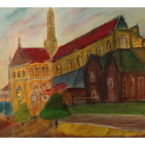 Schilderij Bavokerk te Haarlem