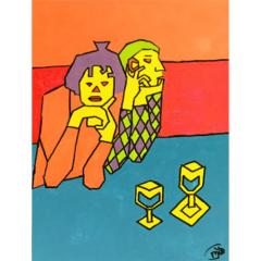 """Schilderij """"Hoekige Picasso"""""""