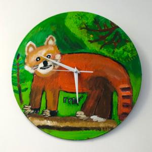"""Klok van oude elpee """"Rode panda"""""""