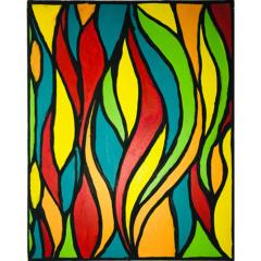 Schilderij 'Tulpen'