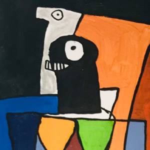Schilderij 'de Lange mannen'