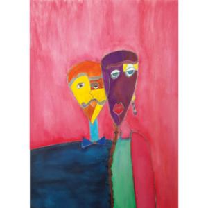 """Schilderij """"Meneer en Mevrouw Picasso"""""""