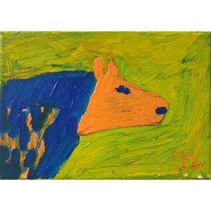 Schilderij Blauwe hengst