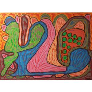 Schilderij 'Licht en leven, lentedans van dromen'