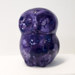 Spaarpot uil paars